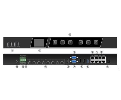 8路SDI输入精品录播主机 S900S